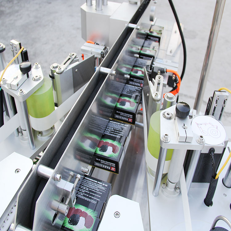 Detalhes da máquina etiquetadora automática de cantos de caixas de papelão