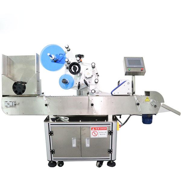 Máquina automática de rotulagem horizontal de adesivos para frascos