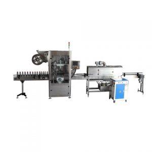 Máquina automática de rotulagem de lados de potes de adesivos