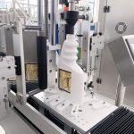Máquina automática de rotulagem de balde de óleo lubrificante