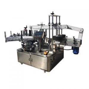 Máquina automática de etiquetagem inferior e lateral