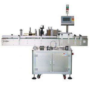 Máquina de rotulagem lateral e superior de prato de frutas
