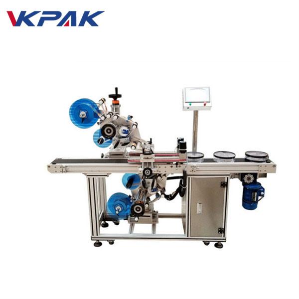 Máquina automática de etiquetagem plana superior e inferior